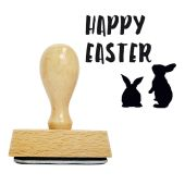 Holzstempel Happy Easter