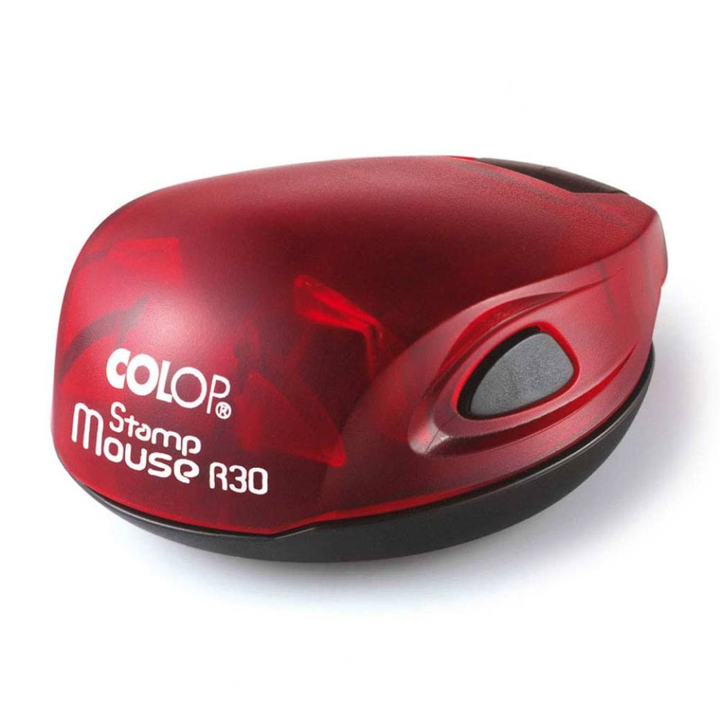 Colop Stamp Mouse 30 rund rot - rot
